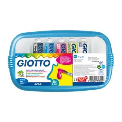 Colori a Tempera Giotto A 5 da 21 ml.
