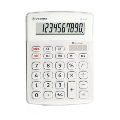 Calcolatrice Osama Big Display OS 502/10 Bianco