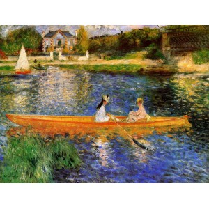 In barca sulla Senna di Renoir