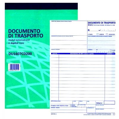documento di trasporto - formato 21,5 x 15