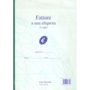 Fatture a una Aliquota - 3 copie