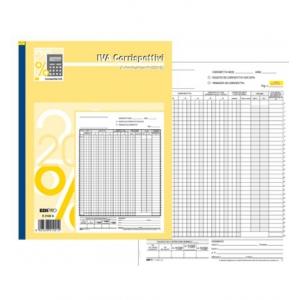 Registro Corrispettivi autoricalcante formato 29,7 x 21 - 13x2